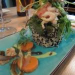 Smörgåstårtbakelse med smak av Japan