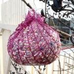 hemmagjord fågelboll